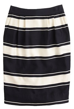 THE EDIT — J. Crew's Bold-Stripe Silk Pencil Skirt