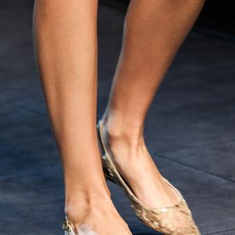 christian louboutin ponyhair pointed-toe flats