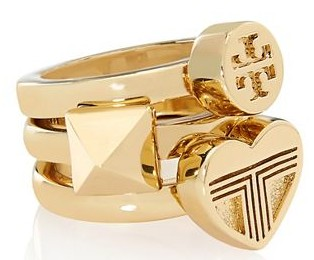 "Tory Burch's ""Adeline"" Stackable Rings"