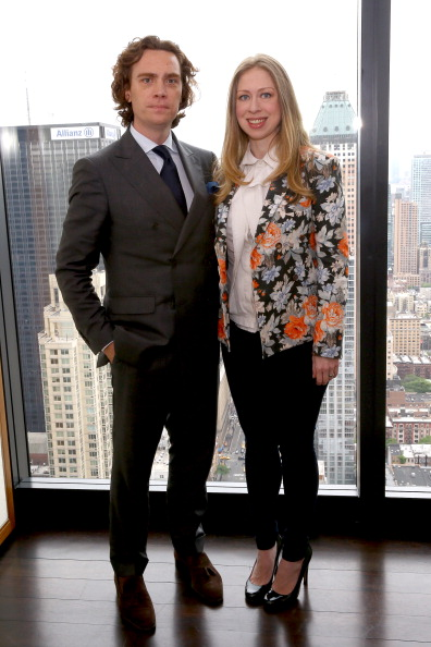SHE'S A STANDOUT — Chelsea Clinton's Fitted Floral Blazer Pops Against Black and White