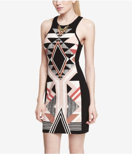 BUY THIS ONE THING — Express's Placed Aztec Mini Sheath Dress