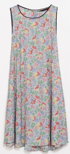 Zara Floral Dress With Buttons at the Back