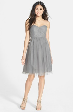 Jenny Yoo Convertible Tulle Fit & Flare Dress