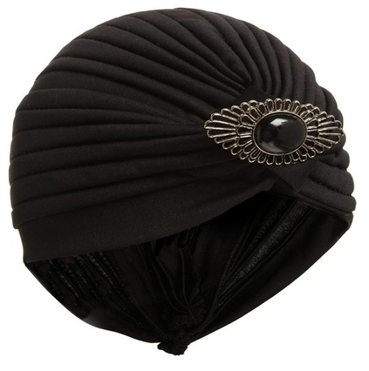 ASOS Turban Hat With Brooch