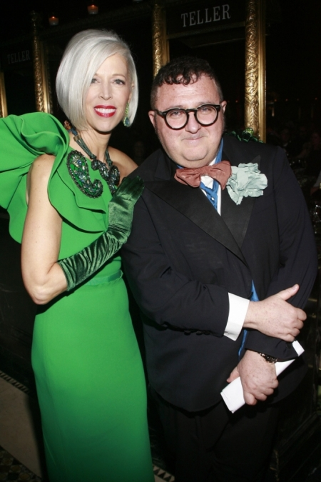 Fargo with Lanvin's Alber Elbaz at the FIT Foundation Gala. Photo: Haute Living