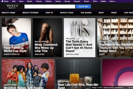 NEWS — Yahoo Enters Crowded, Competitive Beauty Market With NewWebsite