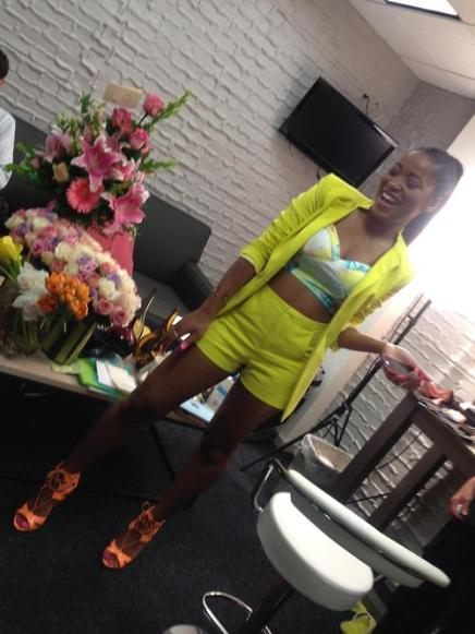 SHE'S A STANDOUT: Keke Palmer Shines Bright in Neon Green