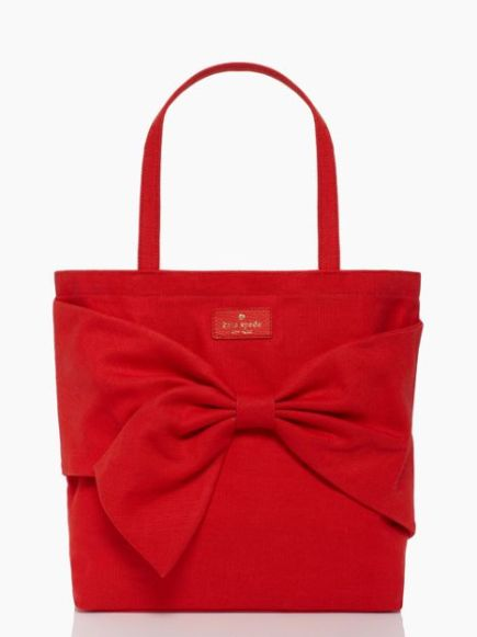 BUY THIS ONE THING: Kate Spade Solid Bow Tote