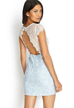 Open Back Lace Sheath Dress