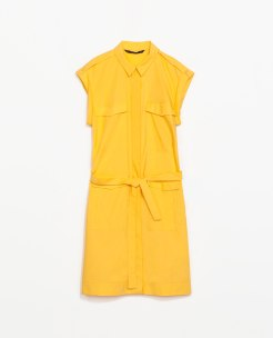 Poplin Dress With Belt