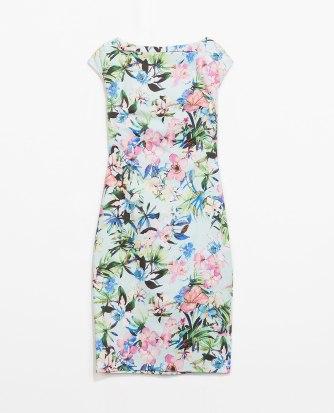 Zara Boat Neck Printed Dress