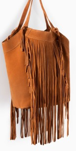 Fringed Leather Shopper