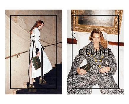 CAMPAIGNS —Daria Werbowy Channels Classic Hollywood for Céline's Fall-WinterCampaign