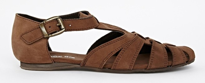Shoe Biz Leather Flat Sandals