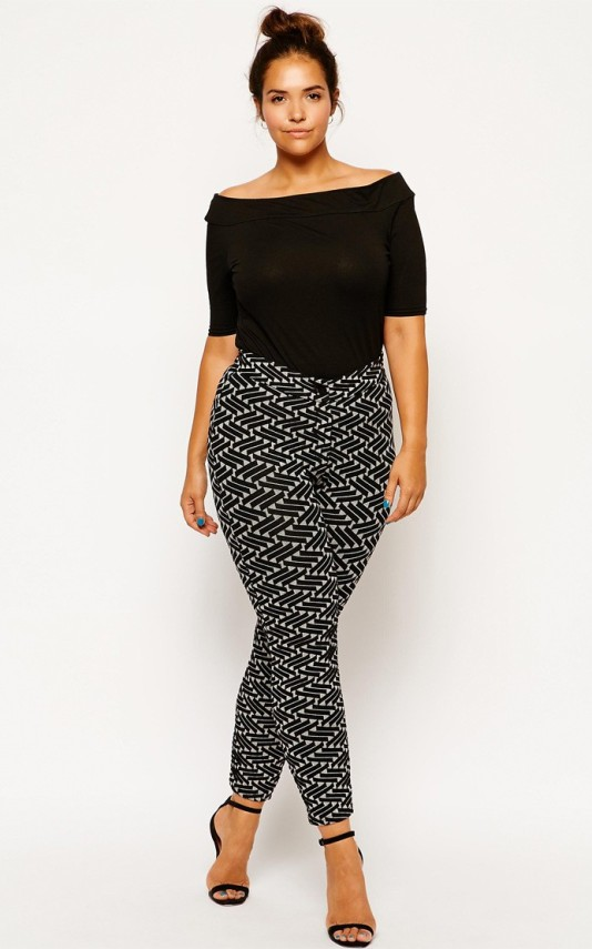 ASOS Curve Tube Pant in Geo Texture,