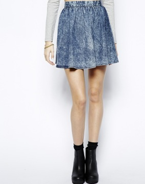 Influence Denim Skater Skirt