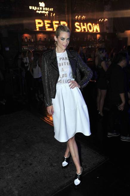 SHE'S A STANDOUT: Jaime King Stuns In Midi Skirt and Tough Leather Jacket
