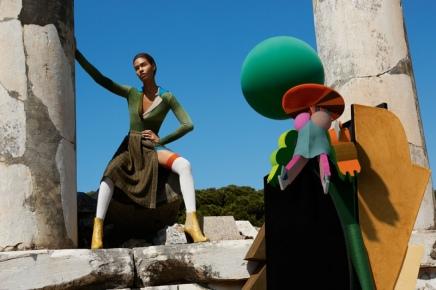 MISSONI — Missoni Turns to Supermodel Joan Smalls For Its Futuristic FallCampaign