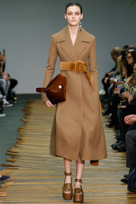Since arriving to Céline in 2008, Phoebe Philo's minimalist creations (like the one pictured) here have been the source of inspiration for scores of mass brands. Photo: Style
