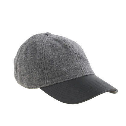 BUY THIS ONE THING — J. Crew Leather Brim Baseball Cap