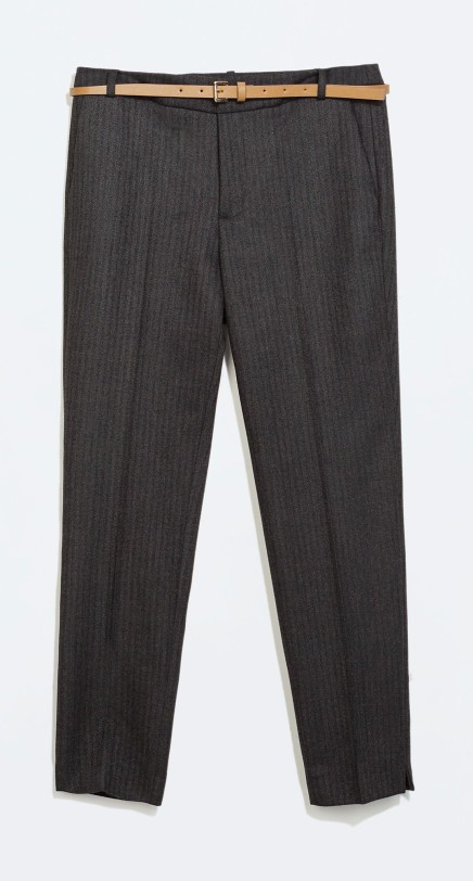 BUY THIS ONE THING — Zara Belted Herringbone Trousers