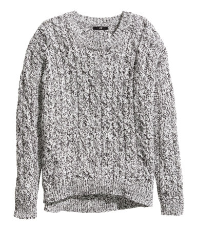ONE PIECE, THREE WAYS — Cable Knit Sweater