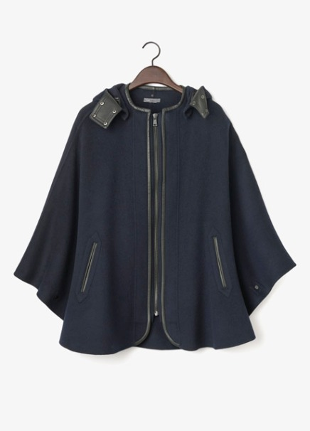 BUY THIS ONE THING: Vince Leather Trim Cape