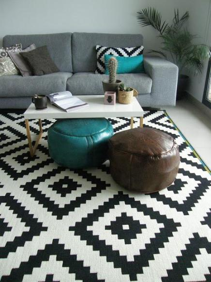 Accent Your Living Room With These 6 Superbright StatementRugs