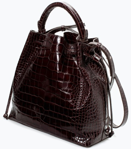 BUY THIS ONE THING: Zara Croc Leather BucketBag