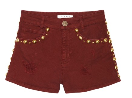 THE EDIT — How Cool are These Studded Burgundy Shorts?!